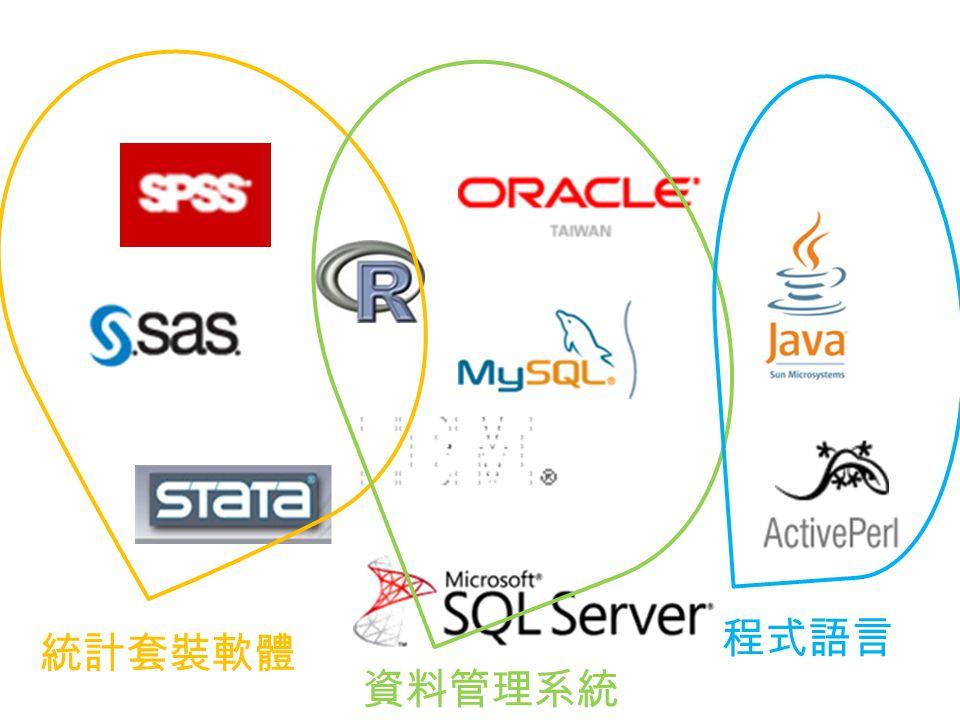 統計套裝軟體 資料管理系統 程式語言