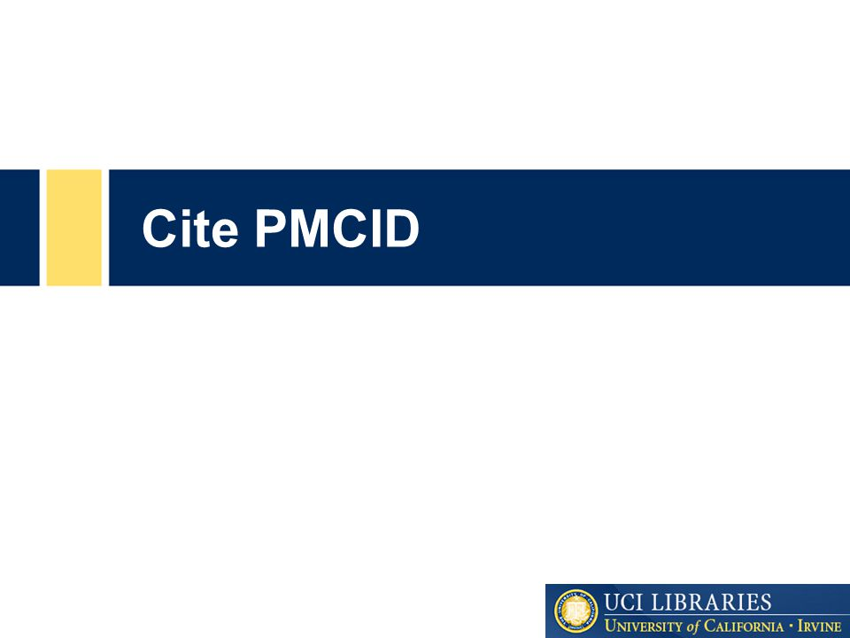Cite PMCID