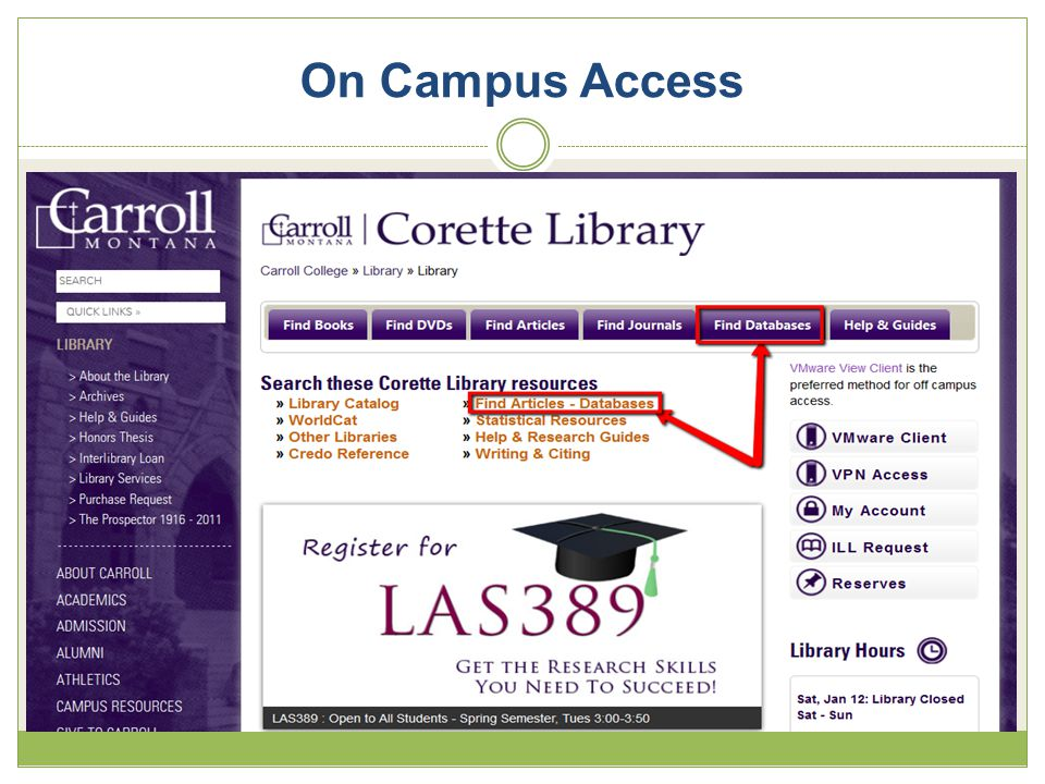 On Campus Access