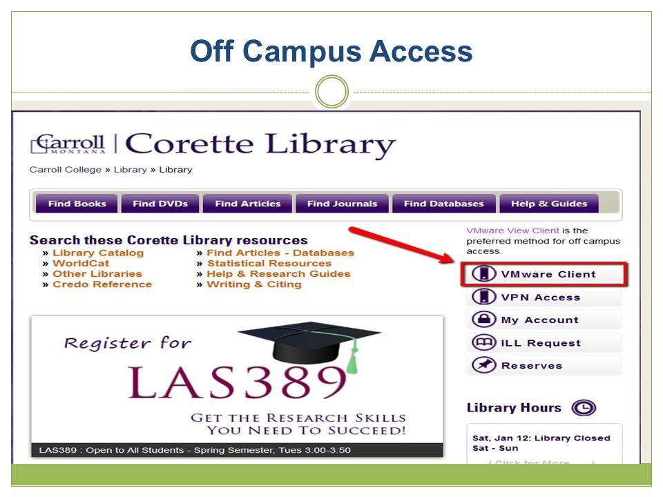 Off Campus Access