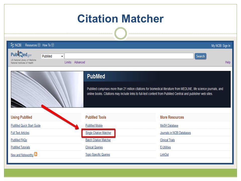 Citation Matcher