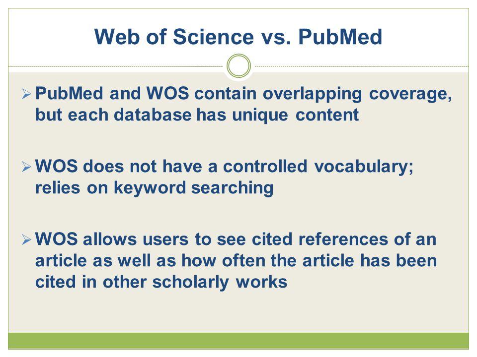 Web of Science vs.