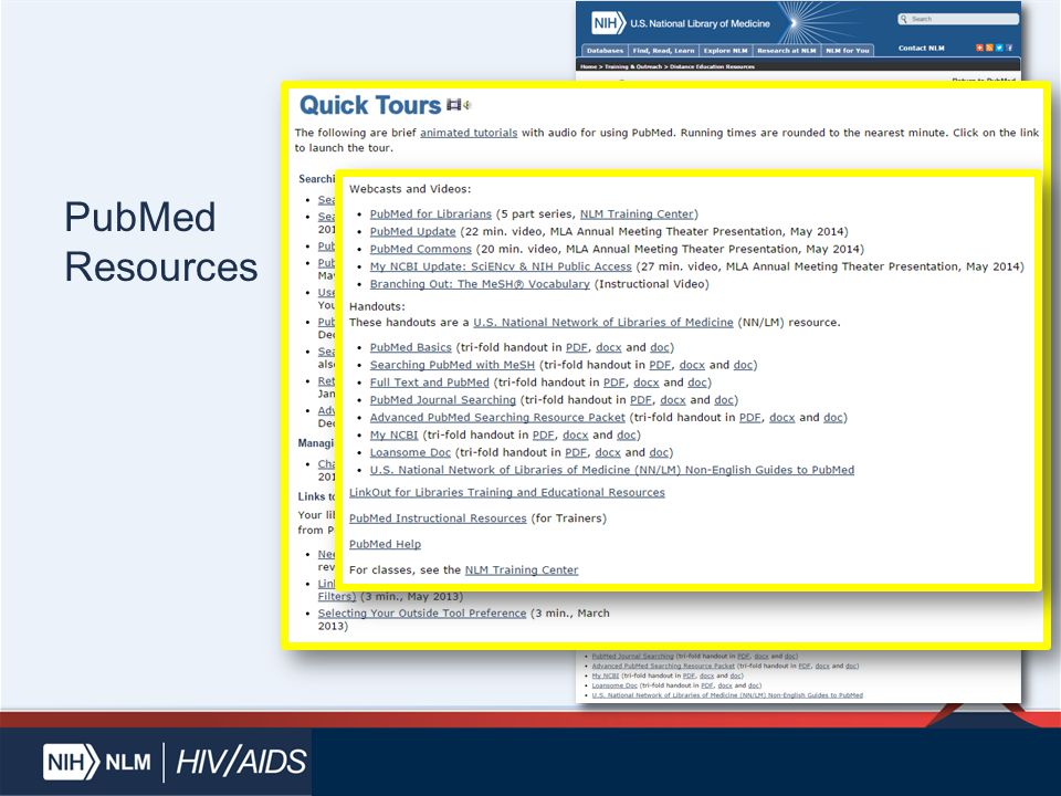 PubMed Resources
