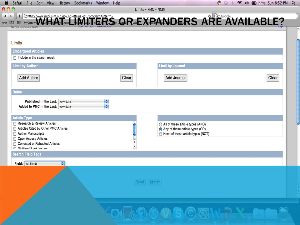 WHAT LIMITERS OR EXPANDERS ARE AVAILABLE