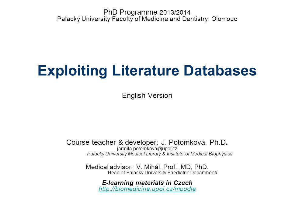 Medical advisor: V. Mihál, Prof., MD, PhD.
