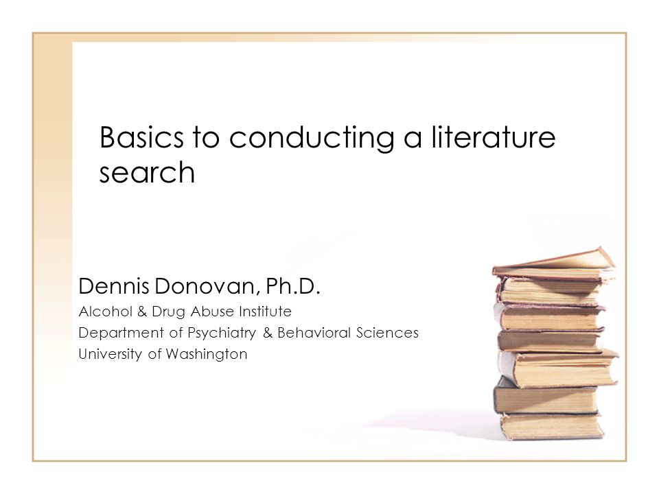What is a Literature Search.