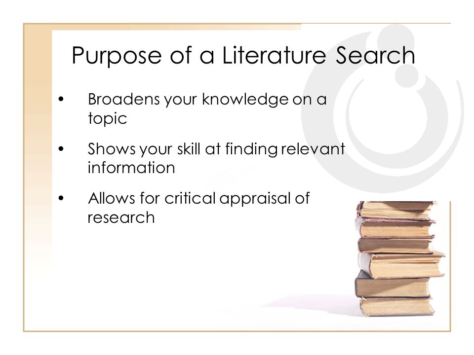Purpose of a Literature Search Such searches are critical when preparing research papers or projects.