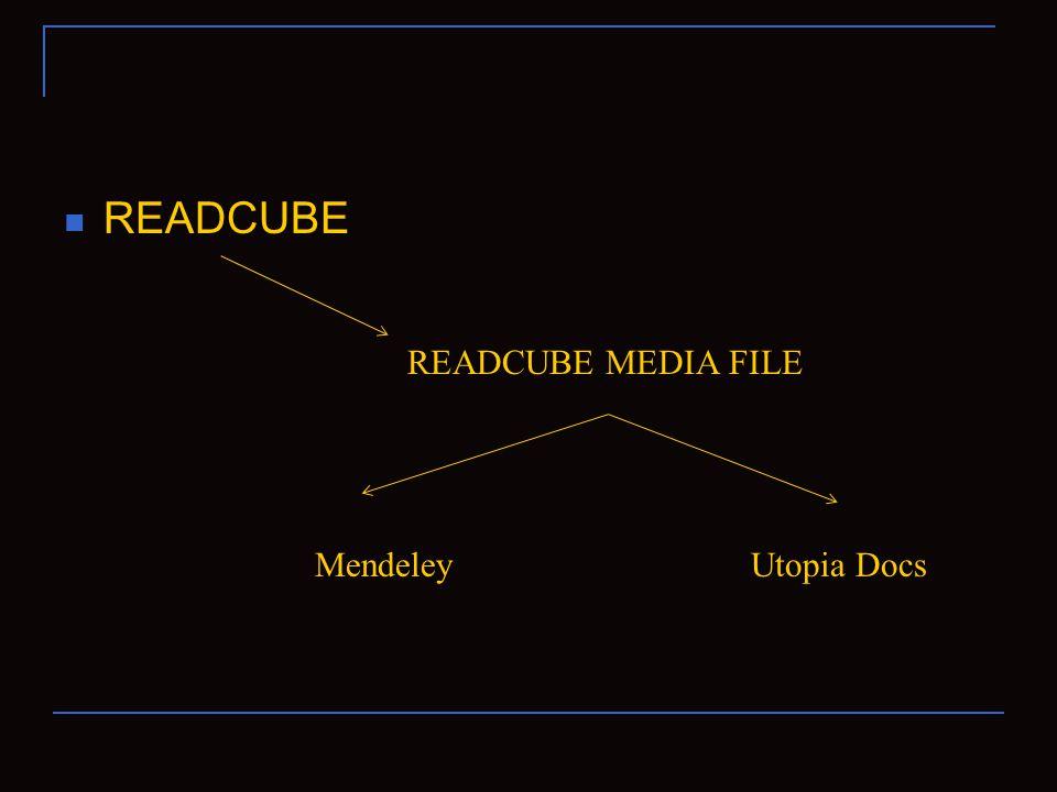 READCUBE READCUBE MEDIA FILE MendeleyUtopia Docs