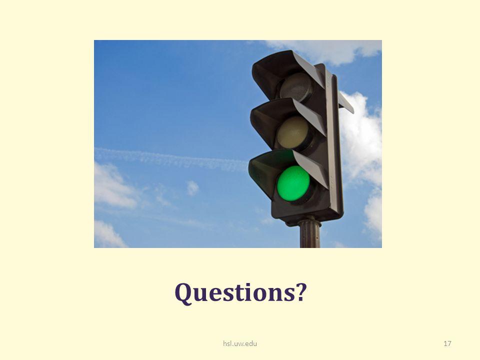 hsl.uw.edu17 Questions
