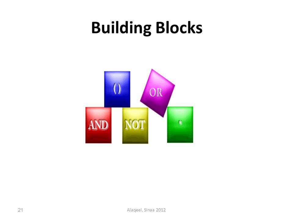Building Blocks 21Alaqeel, Sinaa 2012