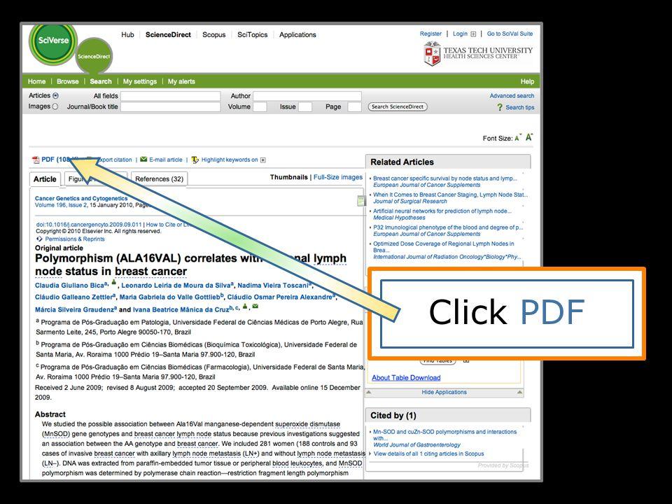 Click PDF