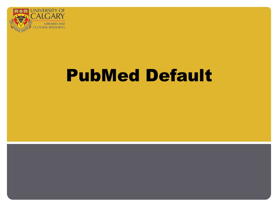 PubMed Default