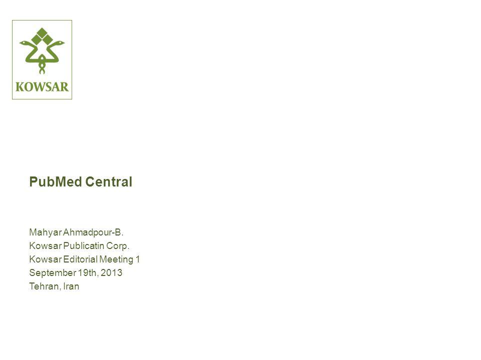 PubMed Central Mahyar Ahmadpour-B. Kowsar Publicatin Corp.