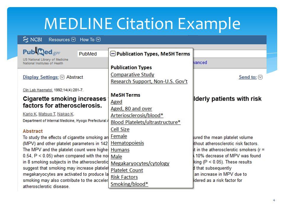 MEDLINE Citation Example 4