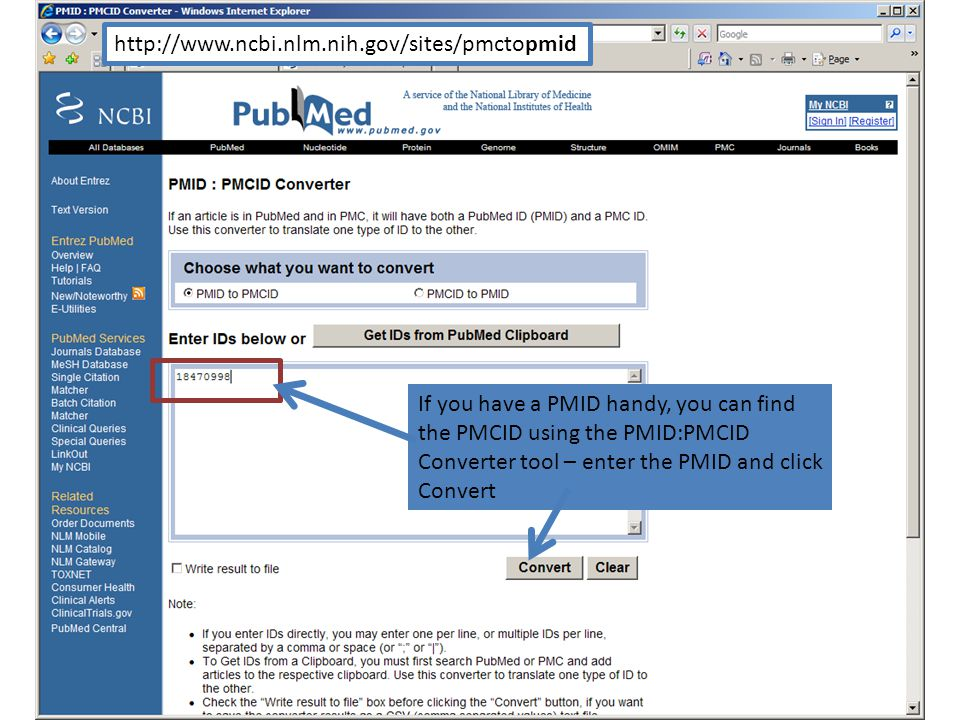 If you have a PMID handy, you can find the PMCID using the PMID:PMCID Converter tool – enter the PMID and click Convert http://www.ncbi.nlm.nih.gov/sites/pmctopmid