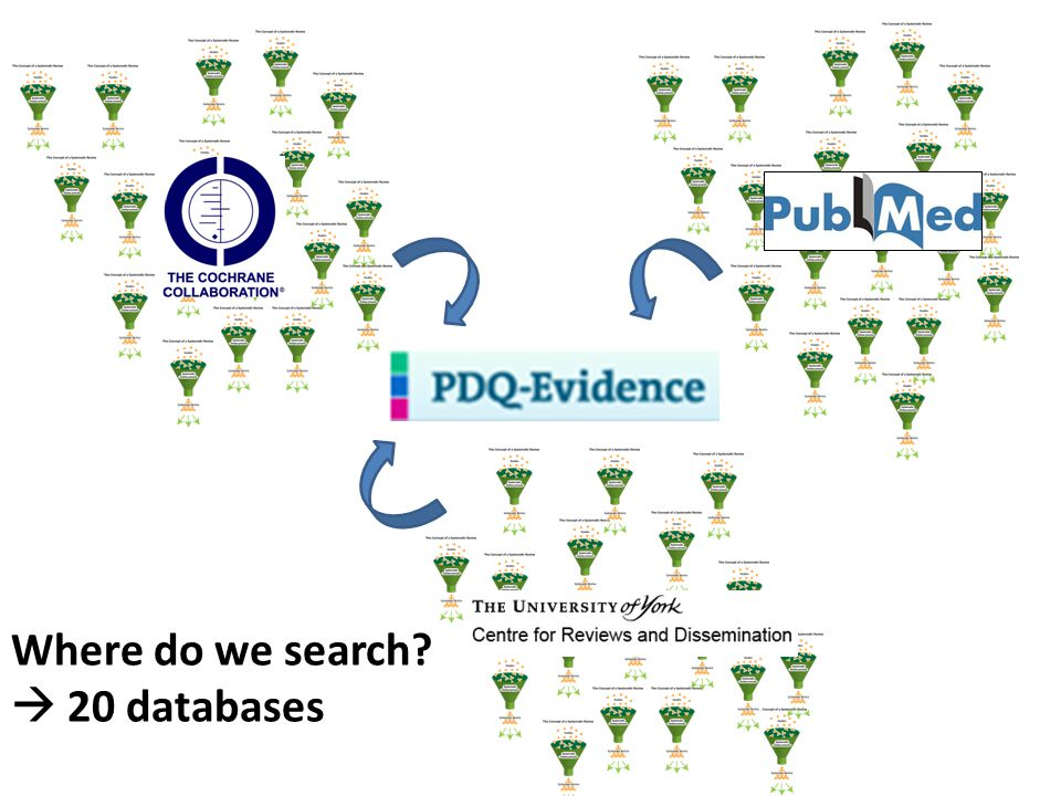 Where do we search  20 databases