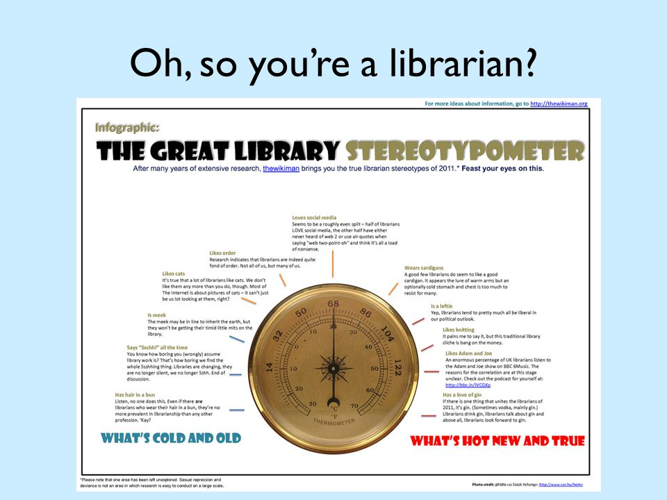 Oh, so you're a librarian?