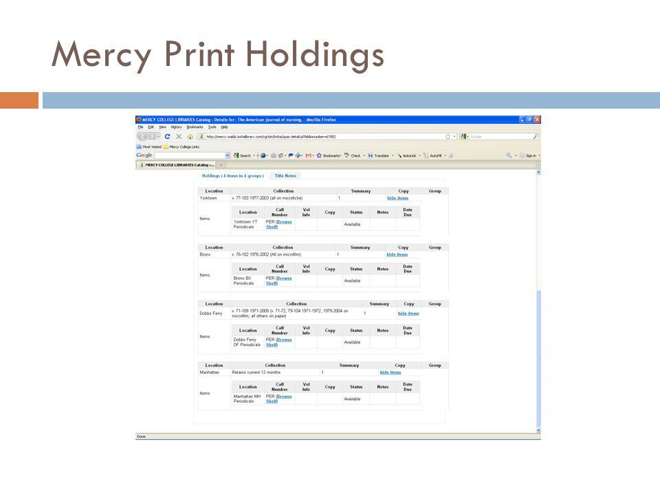 Mercy Print Holdings