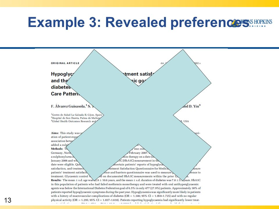 13 Example 3: Revealed preferences