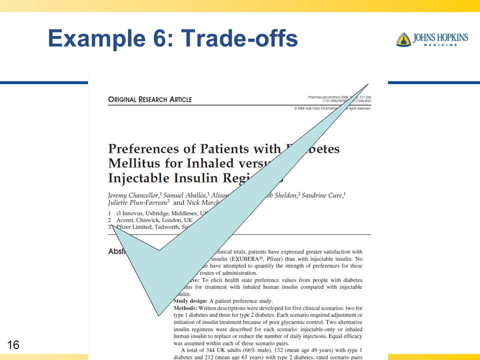 16 Example 6: Trade-offs