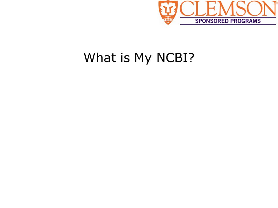 What is My NCBI?