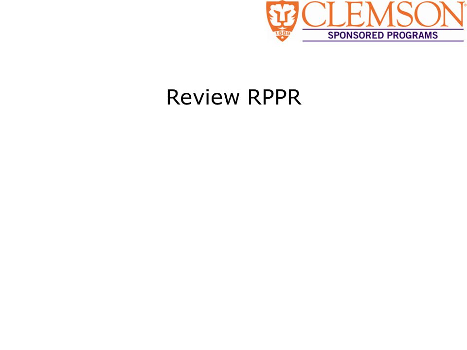 Review RPPR