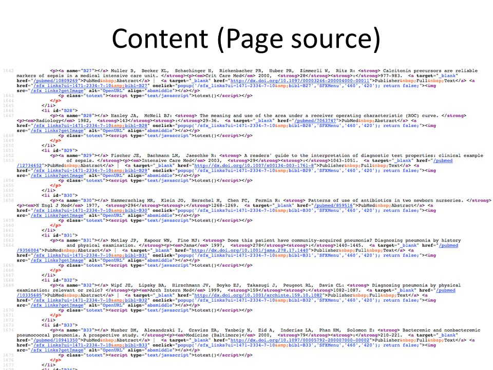 14 May 2013Ganesha Associates13 Content (Page source)