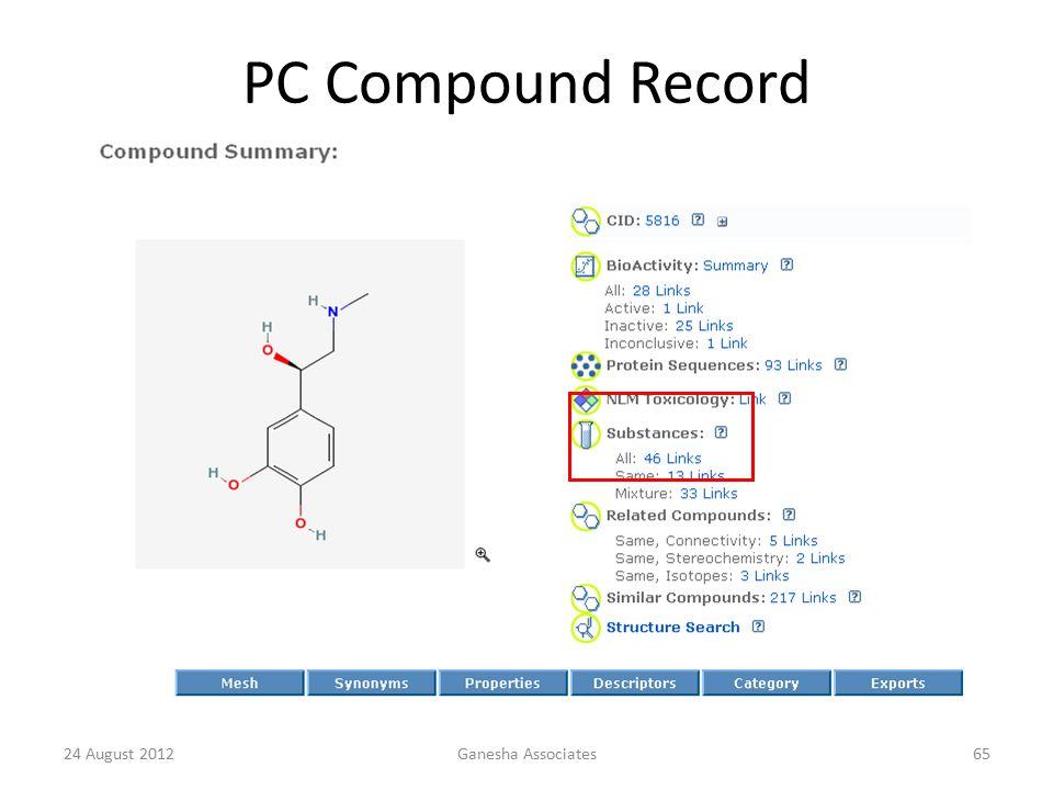 PC Compound Record 24 August 2012Ganesha Associates65