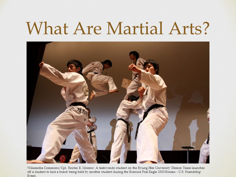  What Are Martial Arts. Wikimedia Commons/Cpl. Kristin E.