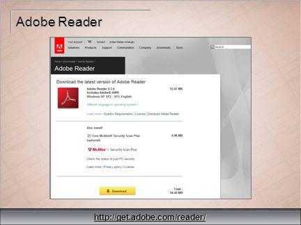 35 Adobe Reader http://get.adobe.com/reader/