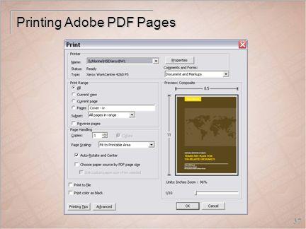 37 Printing Adobe PDF Pages
