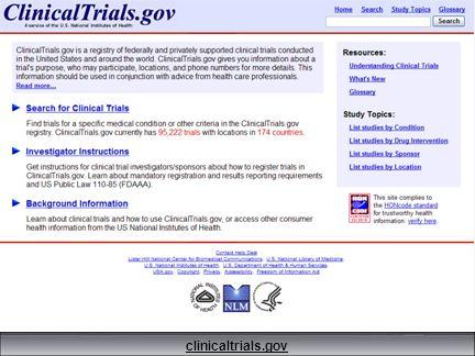 50 clinicaltrials.gov