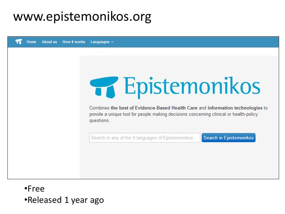 www.epistemonikos.org Free Released 1 year ago