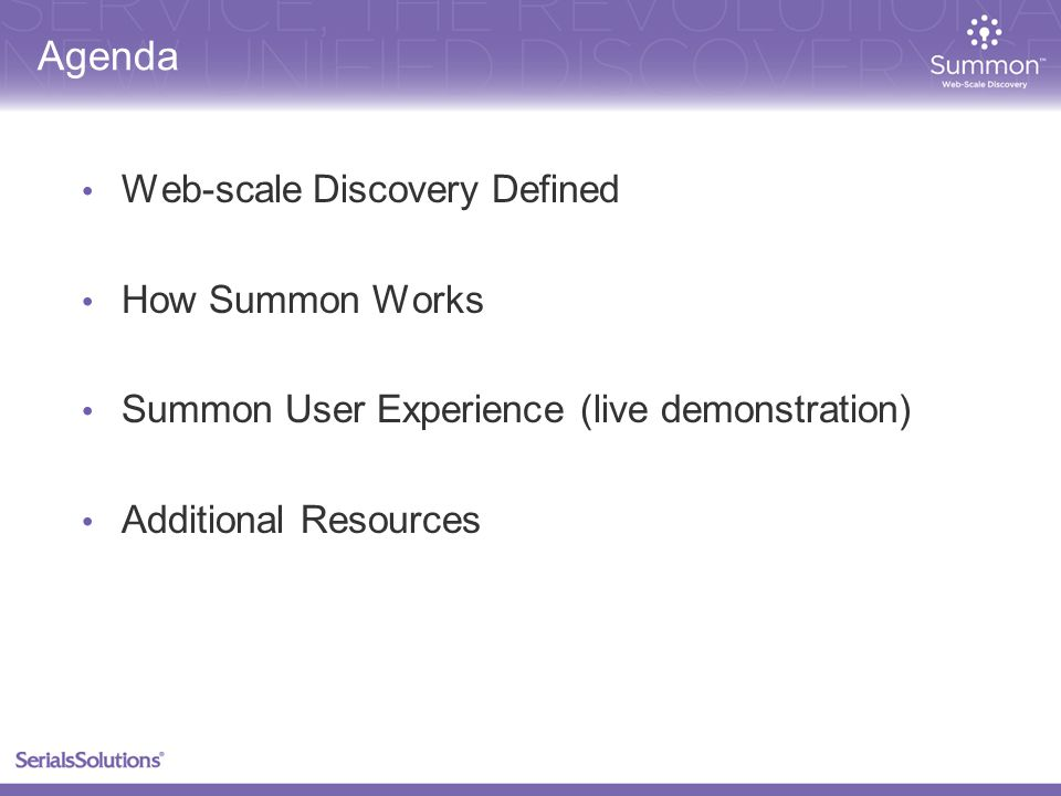 What is web-scale discovery.