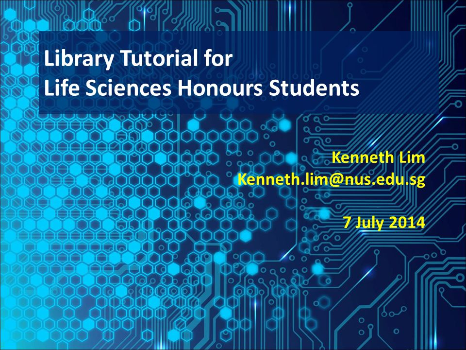 Outline NUS Libraries and Services for Honours Students Overview of online databases for Life Sciences Plagiarism, Citations and Publishing Introduction to bibliographic software & EndNote Adding references to your library Managing references: Groups & Duplicates Cite While You Write Backing up Guides and Tips 2