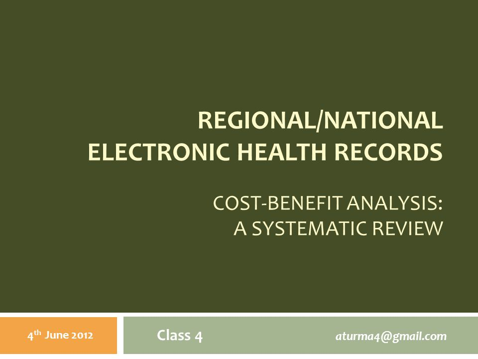 CONCEPTS: Electronic Health Records  Media that facilitate transportability of pertinent information concerning patient s illness across varied providers and geographic locations.