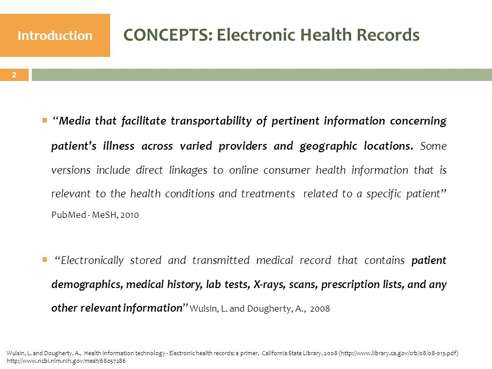 33  From this point of view, EHR appear as advantageous.