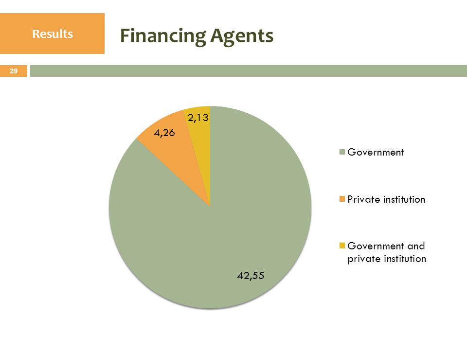 Financing Agents 29 Results