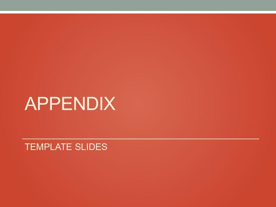 APPENDIX TEMPLATE SLIDES