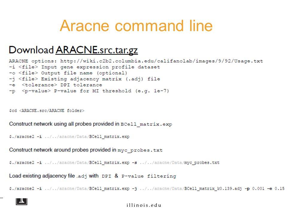 Aracne command line