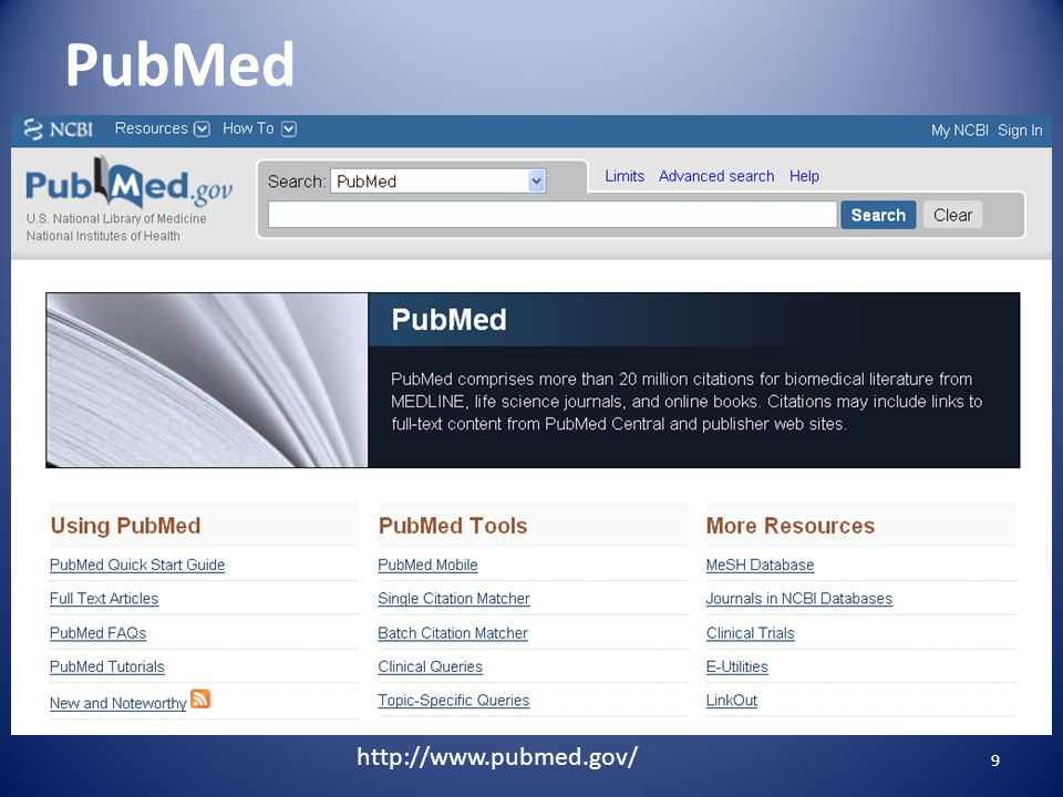 What's in PubMed Includes: records for online books & chapters out of scope articles 10