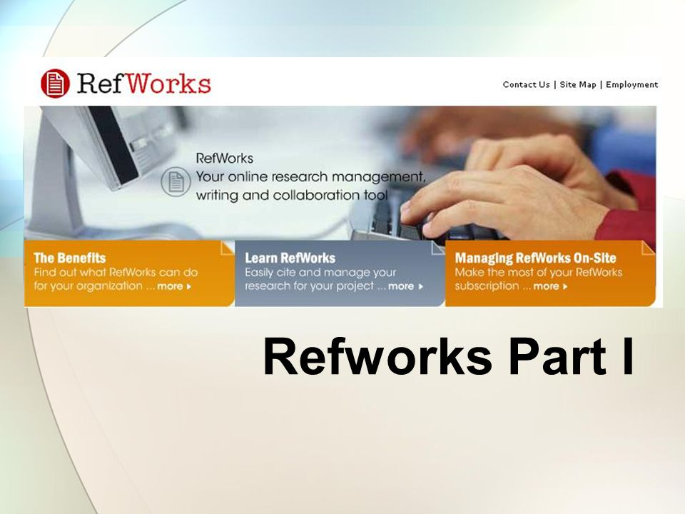 Log on to Refworks