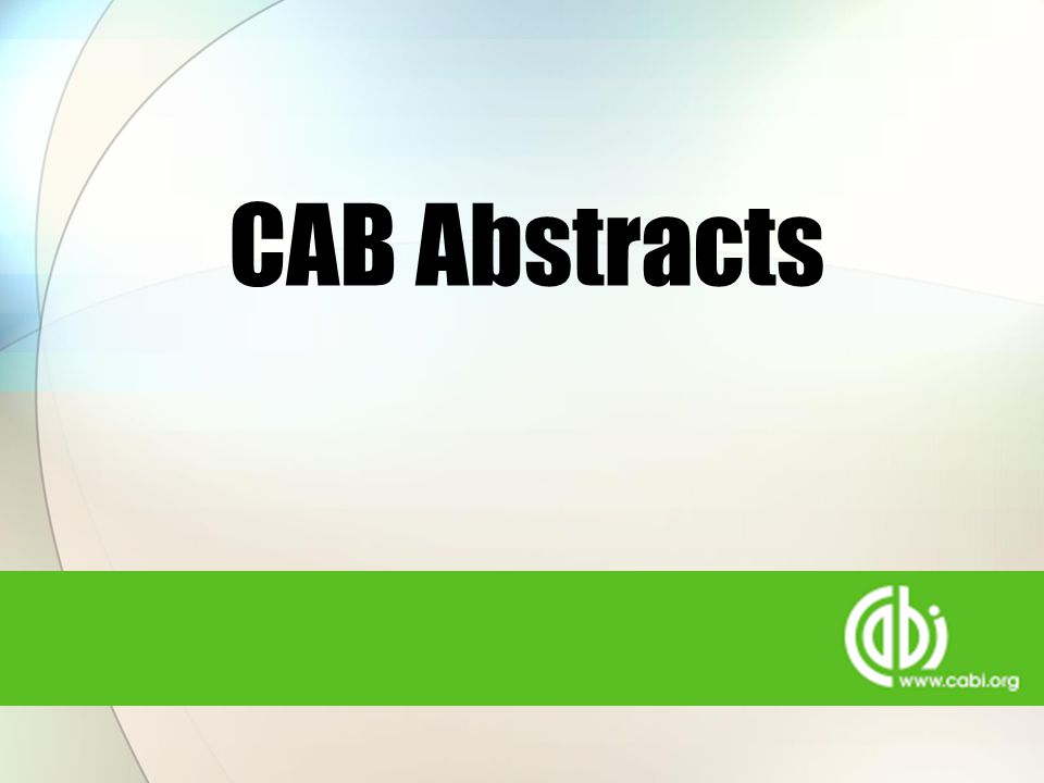 CAB Abstracts