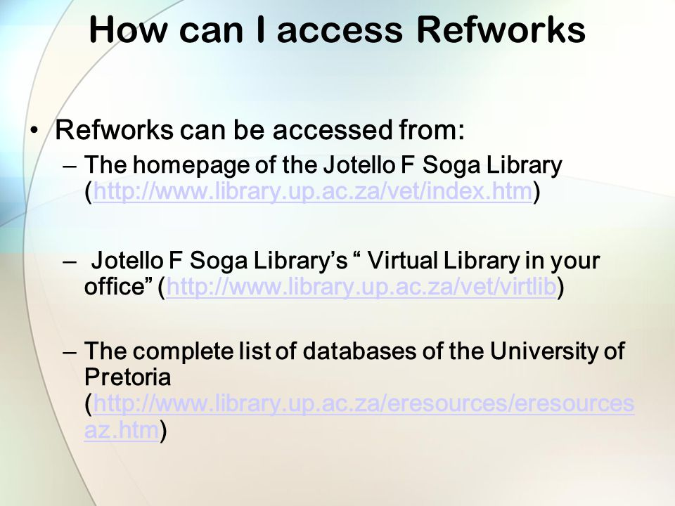 How to use Refworks to Cite a reference (if Write n Cite is not working)