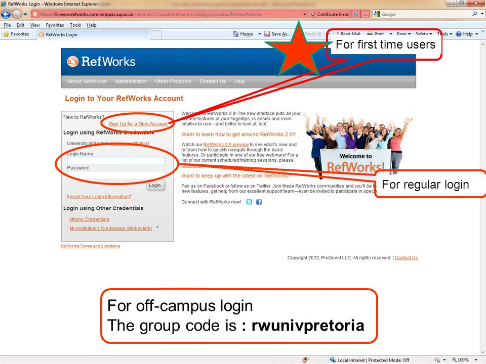 Choose your own Login name (these days they prefer that you use your e-mail as your login name) and Password Supply your e-mail address Click on Next