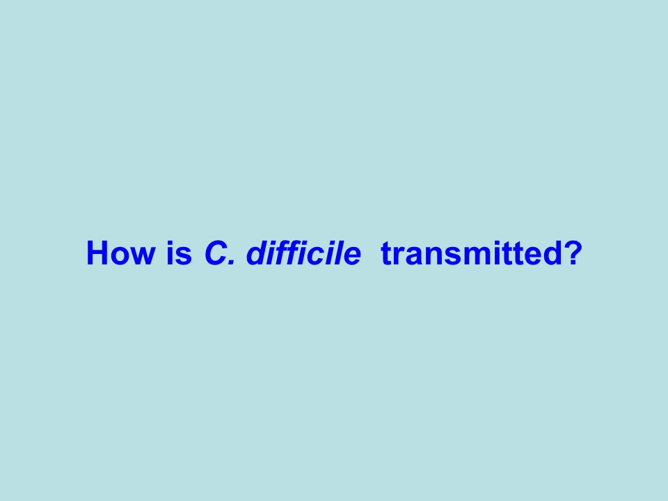 How is C. difficile transmitted