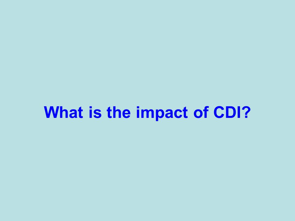 What is the impact of CDI