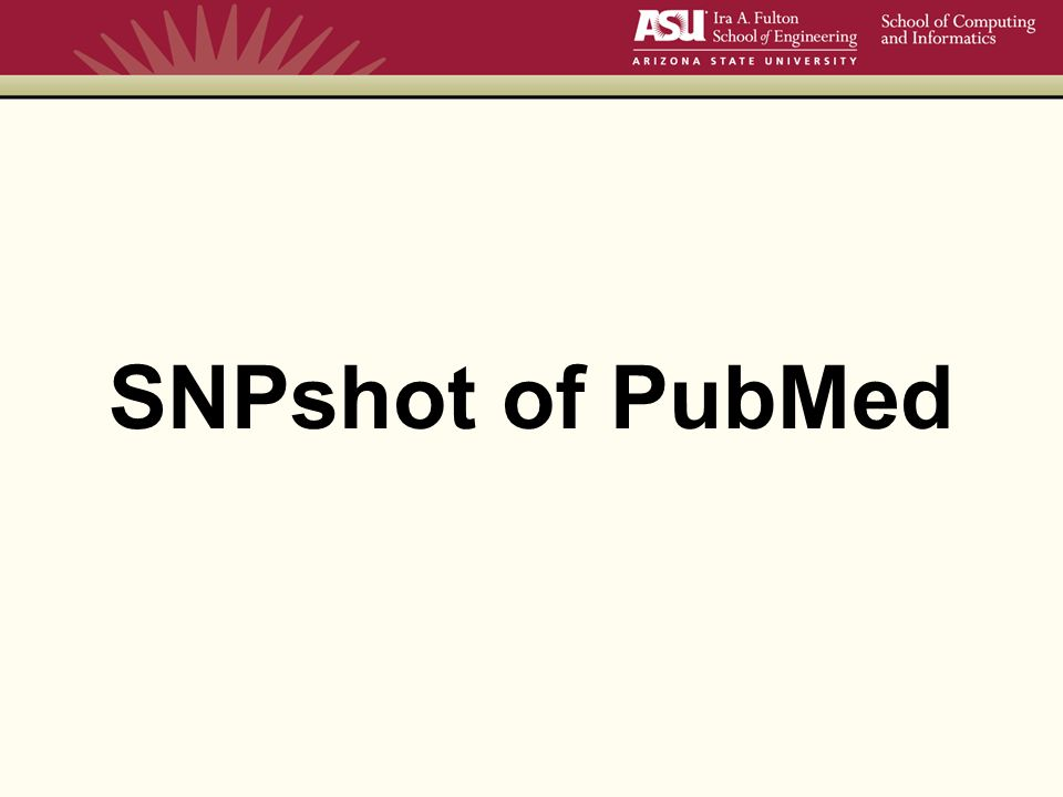 SNPshot of PubMed