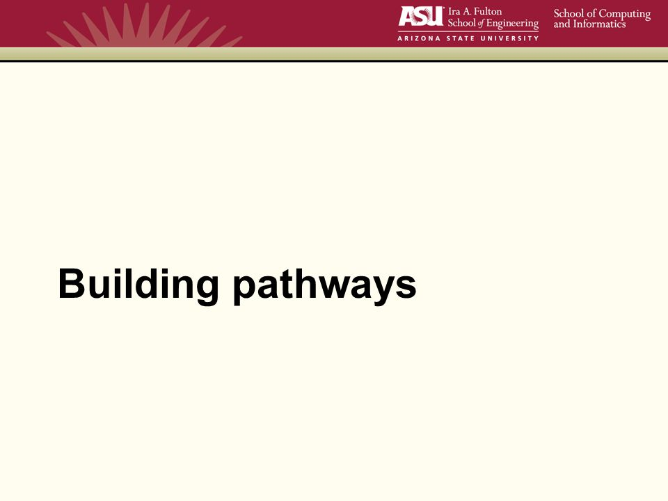Building pathways