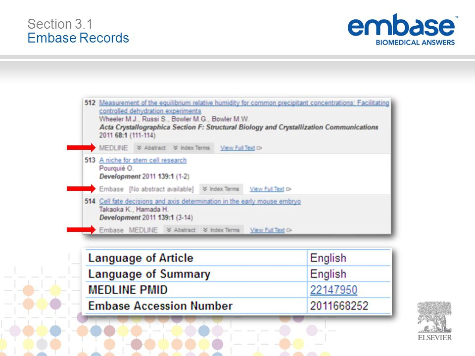 Section 3.1 Embase Records